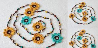 Örgü Kolye - Dantel Örnekleri İğne Oyası Örgü Modelleri - boncuklu örgü kolye modelleri değişik tığ işi kolye modelleri hobiler tığ işi çiçekli kolye modelleri tığ oyası kolye örnekleri