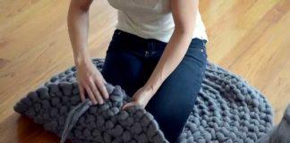 Tığ İşi Yuvarlak Halı Yapımı - Örgü Modelleri - evde pratik halı yapımı örgü halı yapımı örgü paspas yapımı penye ipten halı tığ işi tığ işi yuvarlak halı 1