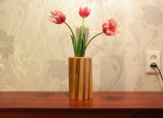 El Yapımı Ahşap Vazo - Dekorasyon Fikirleri - ahşap vazo boyama ahşap vazo büyük boy büyük boy vazo modelleri şık vazo modelleri