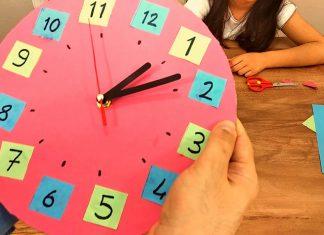 El Yapımı Duvar Saati - Dekorasyon Fikirleri - ahşap duvar saati yapımı atık malzemelerden saat yapımı kartondan duvar saat yapımı şablonu kartondan saat nasıl yapılır malzemeleri