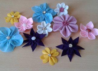 Keçeden Çiçek Nasıl Yapılır? - Hobi Dünyası - keçeden çiçek buketi yapımı keçeden çiçek kesimi keçeden çiçek yapımı kalıbı keçeden çiçek yapımı pinterest