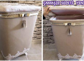Kirli Sepeti Kaplama - Dekorasyon Fikirleri - çamaşır sepeti giydirme el yapımı kirli çamaşır sepeti kadife kirli sepeti malzemeleri kirli çamaşır sepeti kaplama modelleri