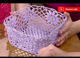 Koton İpten Sepet Yapımı - Dantel Örnekleri - koton ipten sepet yapımı örgüden sepet modelleri pamuk ipten dantel sepet yapımı tutkalla dantel sepet yapımı