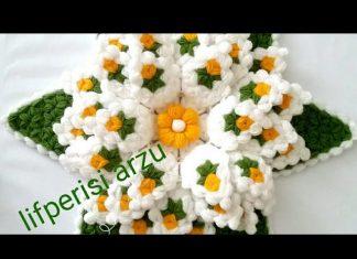 Nilüfer Çiçeği Lif Yapımı - Lif Modelleri - güzel lif modelleri kat kat lif modelleri lif yapımı yuvarlak lif modelleri