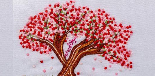 El Nakışı Kiraz Ağacı Nasıl Yapılır? - Nakış -