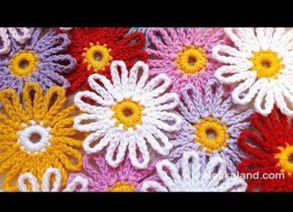 Kolay Çiçek Battaniye Yapımı - Örgü Modelleri -