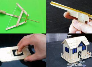 Tahta Çubuklardan Tasarımlar - Örgü Modelleri -
