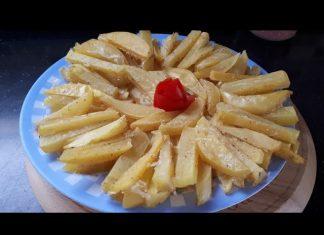 Yağsız Patates Kızartması Yapımı Nasıl Yapılır - Yemek Tarifleri - baharatlı patates kızartması bayatlayan patates kızartması mayalı patatesli poğaça tarifi tavada yağsız patates kızartması