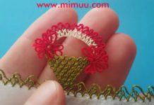 İğne Oyası Sepet Modeli - İğne Oyaları - iğne oyası çiçek sepeti iğne oyası sepet yapılışı iğne oyası sepet yapımı iğne oyası sepetli sepet şeklinde iğne oyası