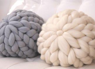 Dev Yün ile Yastık Yapılışı - Örgü Modelleri - dev ip dev örgü yünü kol örgü ipi örgü yastık modelleri anlatımlı örgü yastık nasıl yapılır örgü yastık yapımı