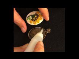 Kanaviçe Kolye Yapımı - Kanaviçe Etamin Örnekleri - etamin kolye kanaviçe kolye modelleri kanaviçe kolye modelleri yapılışı kanaviçe kolye örnekleri rokoko kolye yapımı anlatımlı