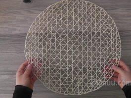 Kağıt İpten Amerikan Servis Yapımı - Kendin Yap - hasır ipten örgü supla yapımı kağıt ip supla modelleri kağıt ipten amerikan servis kağıt ipten runner yapımı supla modelleri supla yapımı