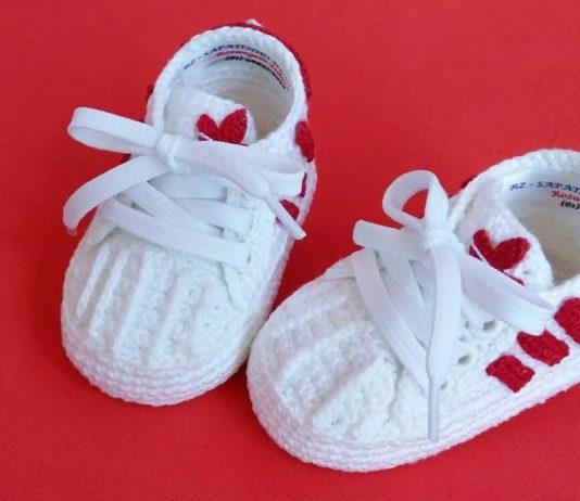 Adidas Örgü Spor Ayakkabı - Örgü Bebek Patik Modelleri -