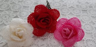 İğne Oyası Gül Yapımı - İğne Oyaları - iğne oyası çiçek yapımı ismek iğne oyası kalpli çiçek yapımı iğne oyası menekşe yapımı iğne oyası tomurcuk gül yapımı
