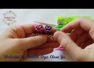 Mekik Oyası Çiçek Yapımı - Mekik Oyası - adım adım mekik oyası yapımı güzel mekik oyaları mekik oyası dolgulu çiçek yapımı mekik oyası modelleri 2020