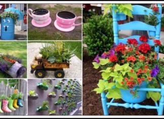 Atık Malzemelerden Bahçe Süsleri - Dekorasyon Fikirleri - atıklardan bahçe bahçe dekorasyon objeleri bahçe süslemeleri kendin yap geri dönüşüm bahçe süsleri hurdalardan bahçe süsü