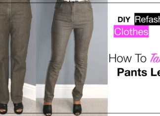 Pantolon Paçası Daraltma - Dikiş - kot pantolon bacak daraltma nasıl yapılır pantolon paça daraltma numaraları Pantolon paçası daraltma kolay pantolon paçası nasıl daralır terzi pantolon daraltma
