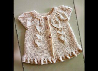 Yaprak Modeli Bebek Yeleği - Bebek Hırkaları Yelekleri Örgü Modelleri - kız bebek yelek modelleri örgü bebek yelekleri tütün yaprağı modeli bebek yeleği yaprak roba modelleri yapraklı bebek hırkası nasıl yapılır yapraklı roba yapılışı