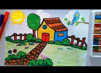 İlkokul Manzara Resmi Çizimi-video ekledim - Örgü Modelleri -