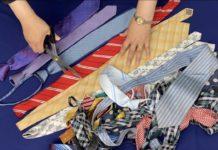 Eski Kravatlardan Ne Yapılır? - Dikiş - eski kravat değerlendirme eski kravatlar nasıl değerlendirilir eski kravatlardan çanta yapımı kullanılmayan kravatlardan ne yapılır