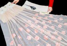Perdeden Elbise Nasıl Yapılır? - Dikiş - artan tüllerden parça tülden ne yapılır eski perdeden ne yapılır eski tüllerden geri dönüşüm perdeden neler yapılır tül perde nasıl şeyler yapılır tülle ne yapılır