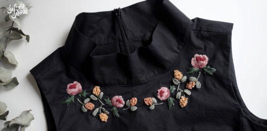 Gömleğe Nakış İşleme Nasıl Yapılır? - Nakış - el nakışı modelleri elbise süsleme fikirleri eski kıyafetlerden yeni kıyafet yapma gömleğe etamin işleme gömlek işleme