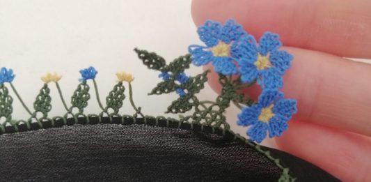 İğne Oyası Çiçek Anlatımlı - İğne Oyaları - iğne oyası ağır modeller iğne oyası çiçek iğne oyası modelleri yeni çıkan iğne oyası yazma yeni iğne oyası örnekleri tülbent