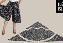 Kloş Pantolon Etek Kesimi - Dikiş - bol paça pantolon dikimi bol paça pantolon kalıbı nasıl çıkarılır dikişe yeni başlayanlar için modeller evde dikiş öğrenmek kalıpsız pantolon dikimi pantolon etek kalıbı