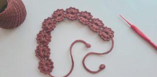 Saç Bandı Yapımı - Örgü Modelleri - bebek saç bandı yapımı video çiçekli saç bandı yapımı saç bandı yapımı örgü tığ işi