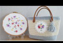 Nakışla Örgü Çanta Süsleme - Nakış - çanta süsleri modelleri çanta süsü yapımı örgü çanta süslemeleri portföy çanta süsleme sırt çantası süsleme