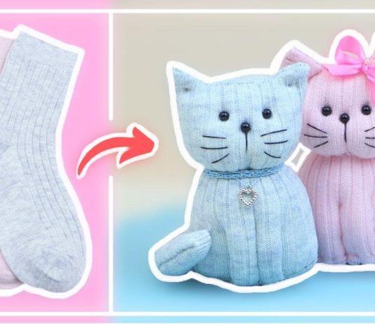 Çoraptan Kedi Nasıl Yapılır? - Okul Öncesi Etkinlikleri - çoraptan kedi el yapımı çoraptan kedi yapımı anlatımlı çoraptan kedi yapımı kolay çoraptan oyuncak modelleri evde çoraptan kedi yapımı