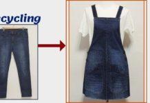 Eski Kottan Elbise Yapımı - Dikiş - eski kot pantolon değerlendirme eski kot pantolondan geri dönüşüm eski kot pantolondan salopet elbise yapımı eski kottan ne yapmak
