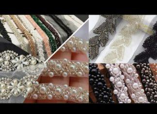 İnci Boncuklu Dantel Nasıl Yapılır? - Kendin Yap - düz elbiseyi abiyeye çevirme elbise süsleme fikirleri tunik süsleme