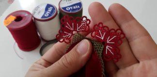 Kırmızı Tülbent İğne Oyaları - İğne Oyaları - iğne oyası örnekleri iğne oyası yazma kırmızı düz yazmaya iğne oyası modelleri kırmızı iğne oyası modelleri sade renk yazma modelleri