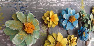 Kozalaktan Duvar Süsü - Kendin Yap - dekoratif kozalak süsleme kozalaktan etkinlik örnekleri kozalaktan süs eşyası yapımı kozalaktan süs yapımı