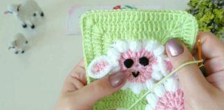 Kuzu Motifli Battaniye Yapımı - Örgü Bebek Battaniyesi Modelleri - anlatımlı kuzulu battaniye yapımı kuzulu battaniye yapılışı kuzulu battaniyenin yapılışı kuzulu bebek battaniyesi yapımı