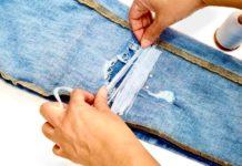 Yırtık Kot Pantolon Nasıl Tamir Edilir? - Dikiş - ağı yırtılan pantolon tamiri dizi yırtılan kot pantolon evde dikiş teknikleri kot pantolondan