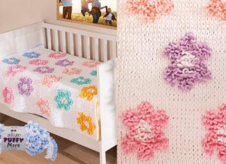 Alize Puffy Çiçekli Battaniye Yapılışı - Örgü Bebek Battaniyesi Modelleri - alize puffy battaniye alize puffy battaniye modelleri alize puffy bebek battaniyesi parmakla örülen battaniye modelleri