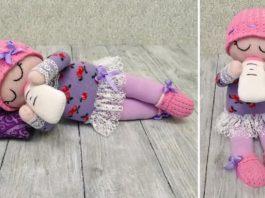 Çoraptan Bebek Yapımı - Dikiş - çoraptan bebek yapımı açıklamalı el yapımı bez bebekler evde bebek oyuncak yapımı oyuncak bebek yapımı kolay
