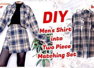 Eski Gömlekten Etek Ceket Yapılışı - Dikiş - erkek gömleğinden bayan bluz yapımı eski gömlekten elbise yapımı eski gömlekten etek yapımı eski gömlekten ne yapılır