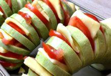 Fırında Domatesli Kabak Dolması Tarifi - Yemek Tarifleri - diyet tarifler fırında sağlıklı yemekler kabak dolması nasıl yapılır kolay fit tarifler pratik sağlıklı yemekler 1